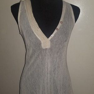 Tops - Silk and Cotton Sheer Tank Tunic - Small/38